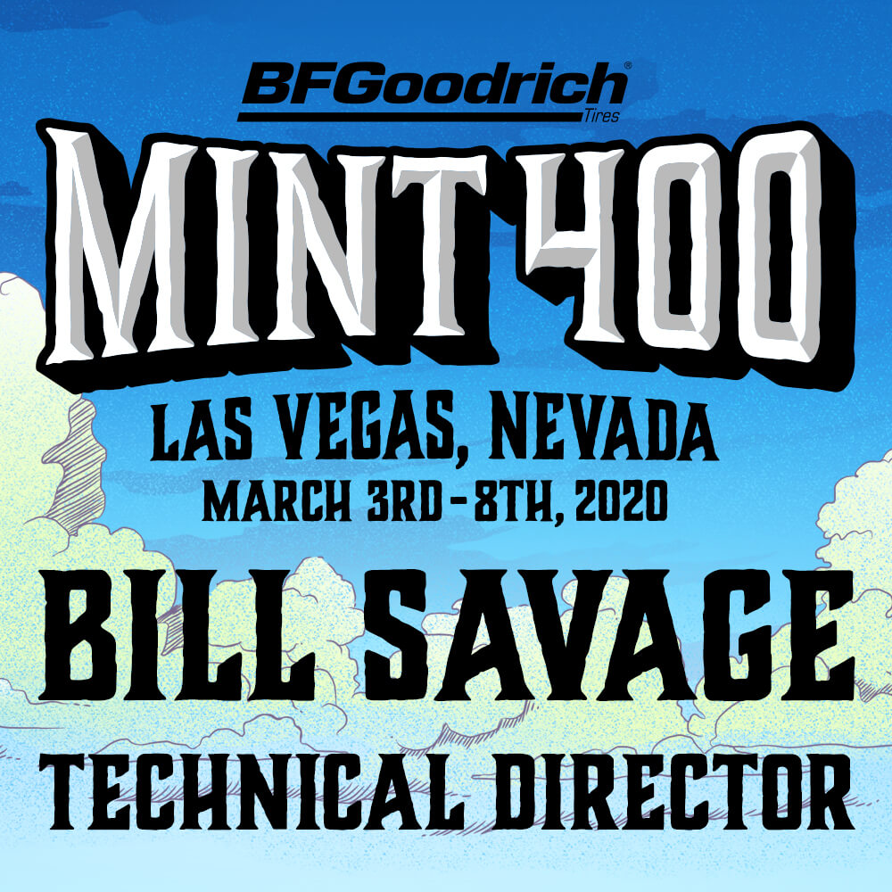 Bill Savage named the 2020 Mint 400 Technical Director
