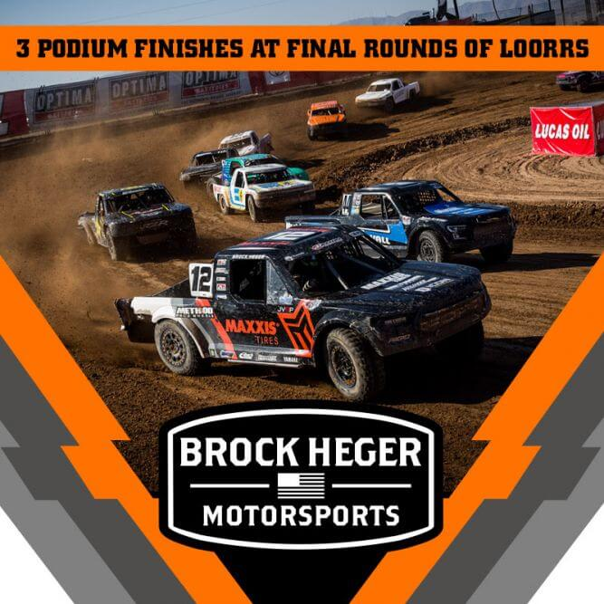 Brock Heger Takes 3 Podium Finishes For Lucas Oil Off Road Final Round
