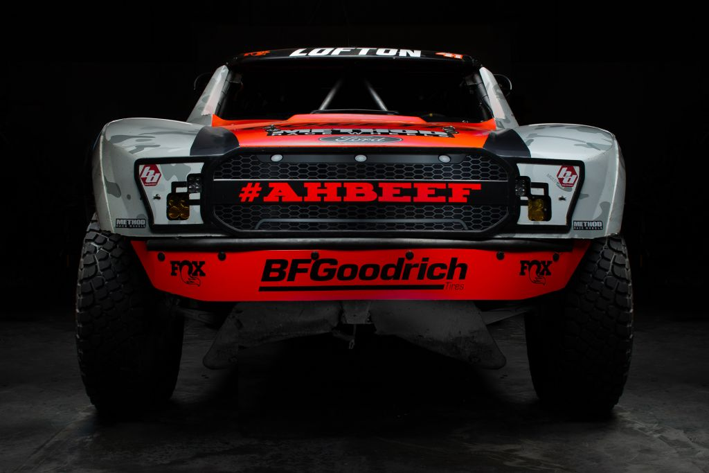three times mint 400 champion justin lofton trophy truck