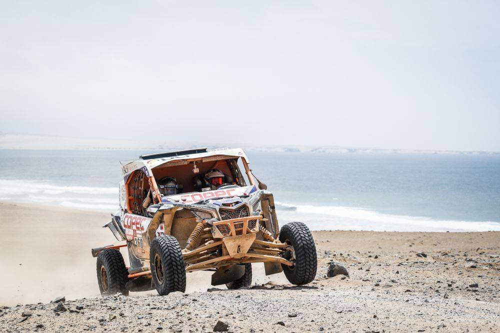 360 LOPEZ CONTARDO Francisco (chi), LEON QUINTANILLA Alvaro Juan (chi), Can-AM, South Racing Can-AM, Group SXS ASO/FI, Class SXS, action during the Dakar 2019, Stage 8, San Juan de Marcona - Pisco, peru, on january 15 - Photo Frederic Le Floc'h / DPPI © Frederic Le Floc'h / DPPI