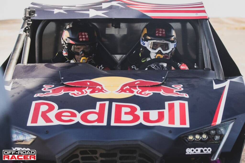 Nasser Al-Attiyah and Matthieu Baumel perform with the OT3 by Overdive in Erfoud , Morocco on October 3, 2019 // Flavien Duhamel/Red Bull Content Pool // AP-22EBTF26D2111 // Usage for editorial use only //