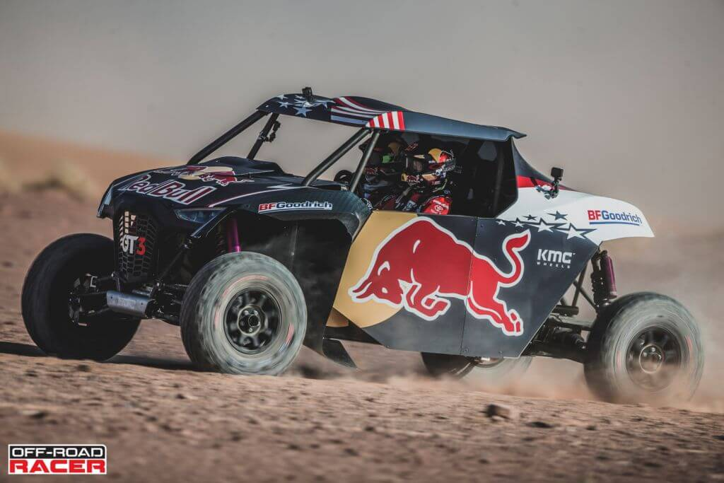 Nasser Al-Attiyah and Matthieu Baumel perform with the OT3 by Overdive in Erfoud , Morocco on October 2, 2019 // Flavien Duhamel/Red Bull Content Pool // AP-22EBTETYW2111 // Usage for editorial use only //