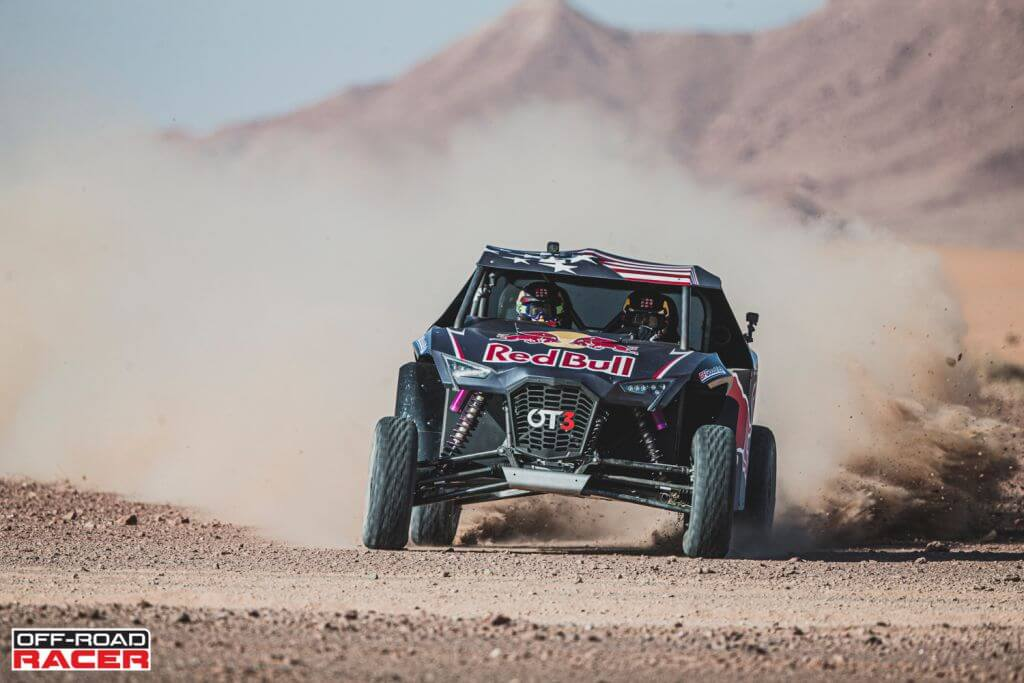 Nasser Al-Attiyah and Matthieu Baumel perform with the OT3 by Overdive in Erfoud , Morocco on October 2, 2019 // Flavien Duhamel/Red Bull Content Pool // AP-22EBTEUV92111 // Usage for editorial use only //