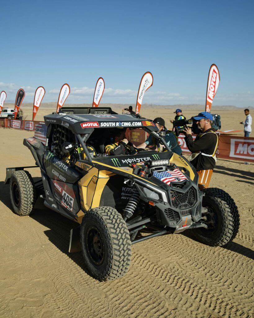 Casey Currie at stage 1 of the 2020 Dakar Rally
