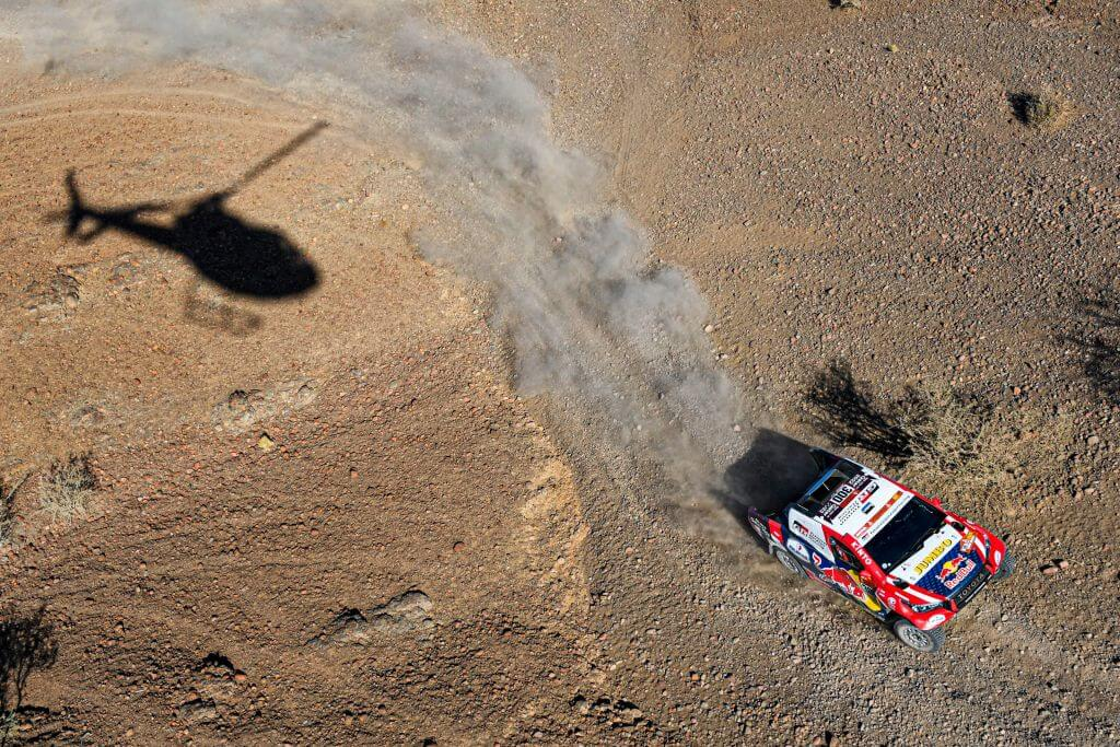 Nasser Al-Attiyah on stage 3 of the 2020 Dakar Rally