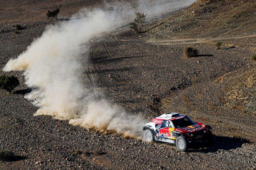 Stephane Peterhansel on stage 3 of the 2020 Dakar Rally