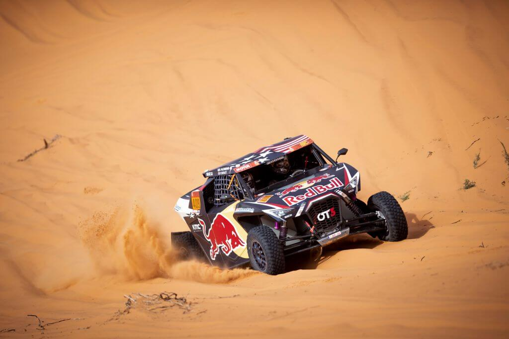 Blade Hildebrand at stage 6 of the 2020 Dakar Rally