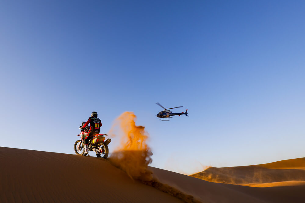 09 Brabec Ricky (usa), Honda, Monster Energy Honda Team 2020, Moto, Bike, Motul, action during Stage 7 of the Dakar 2020 between Riyadh and Wadi Al-Dawasir, 741 km - SS 546 km, in Saudi Arabia, on January 12, 2020 - Photo Frederic Le Floc'h / DPPI