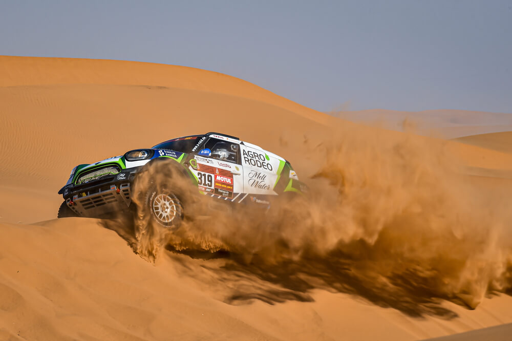 319 Zala Vaidotas (ltu), Jurgelenas Saulius (lt), Mini, Agrorodeo, Auto, Car, action during Stage 7 of the Dakar 2020 between Riyadh and Wadi Al-Dawasir, 741 km - SS 546 km, in Saudi Arabia, on January 12, 2020 - Photo DPPI