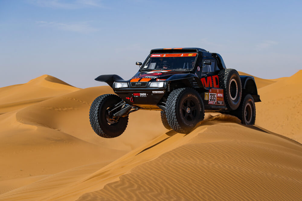 335 Pelichet Jerome (fra), Larroque Pascal (fra), Optimus, Raidlynx, Auto, Car, action during Stage 7 of the Dakar 2020 between Riyadh and Wadi Al-Dawasir, 741 km - SS 546 km, in Saudi Arabia, on January 12, 2020 - Photo Florent Gooden / DPPI