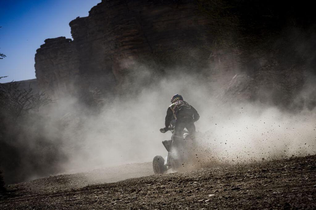 Ignacio Casale (CHL) races during stage 09 of Rally Dakar 2020 from Wadi Al Dawasir to Haradh, Saudi Arabia on January 14, 2020