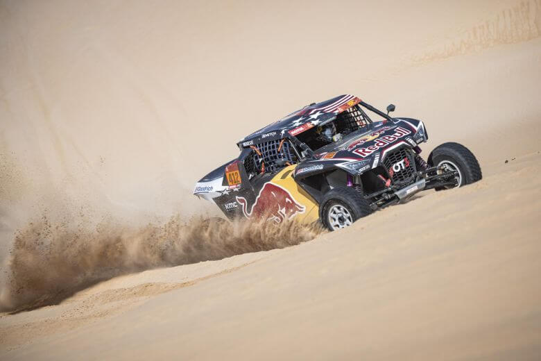 Mitch Guthrie (USA) of Red Bull Off-Road Team USA races during stage 10 of Rally Dakar 2020 from Haradh to Shubaytah, Saudi Arabia on January 15, 2020
