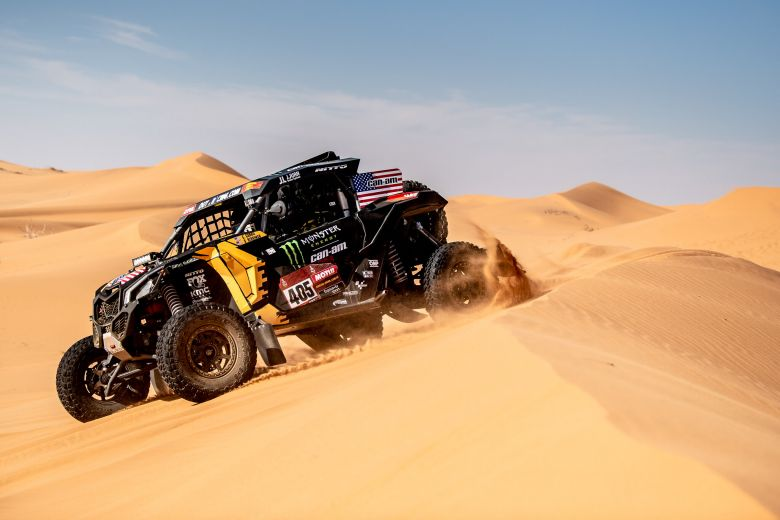 Casey Currie at stage 10 of the 2020 Dakar Rally