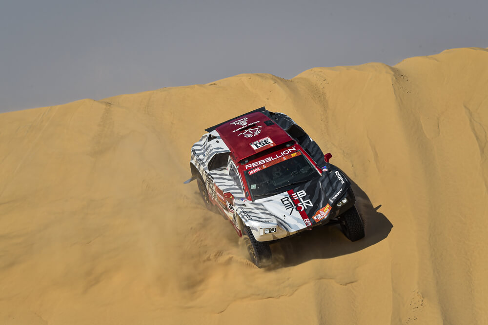 351 Pesci Alexandre (che), Kuhni Stephan (che), Rebellion, RD Limited, Auto, Car, action during Stage 10 of the Dakar 2020 between Haradh and Shubaytah, 608 km - SS 534 km, in Saudi Arabia, on January 15, 2020 - Photo DPPI