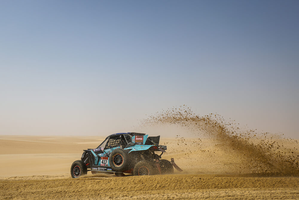 417 Alletru Axel (fra), Beguin Francois (bel), Can-Am, Je Peux 2020-BBR Mercier Racing, SSV, Motul, action during Stage 10 of the Dakar 2020 between Haradh and Shubaytah, 608 km - SS 534 km, in Saudi Arabia, on January 15, 2020 - Photo Frederic Le Floc'h / DPPI