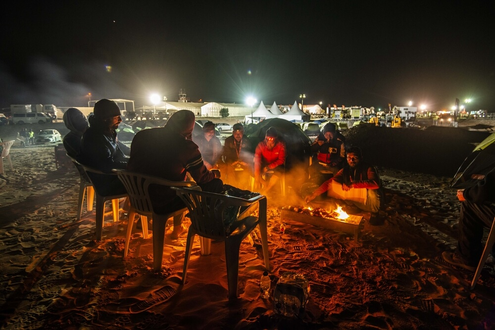 Atmosphere Marathon Bivouac during Stage 10 of the Dakar 2020 between Haradh and Shubaytah, 608 km - SS 534 km, in Saudi Arabia, on January 15, 2020 - Photo Charly Lopez / ASO