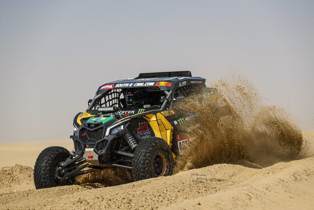 402 Varela Reinaldo (bra), Gugelmin Gustavo (bra), Can-Am, Monster Energy Can-Am, SSV, Motul, action during Stage 10 of the Dakar 2020 between Haradh and Shubaytah, 608 km - SS 534 km, in Saudi Arabia, on January 15, 2020 - Photo Frederic Le Floc'h / DPPI