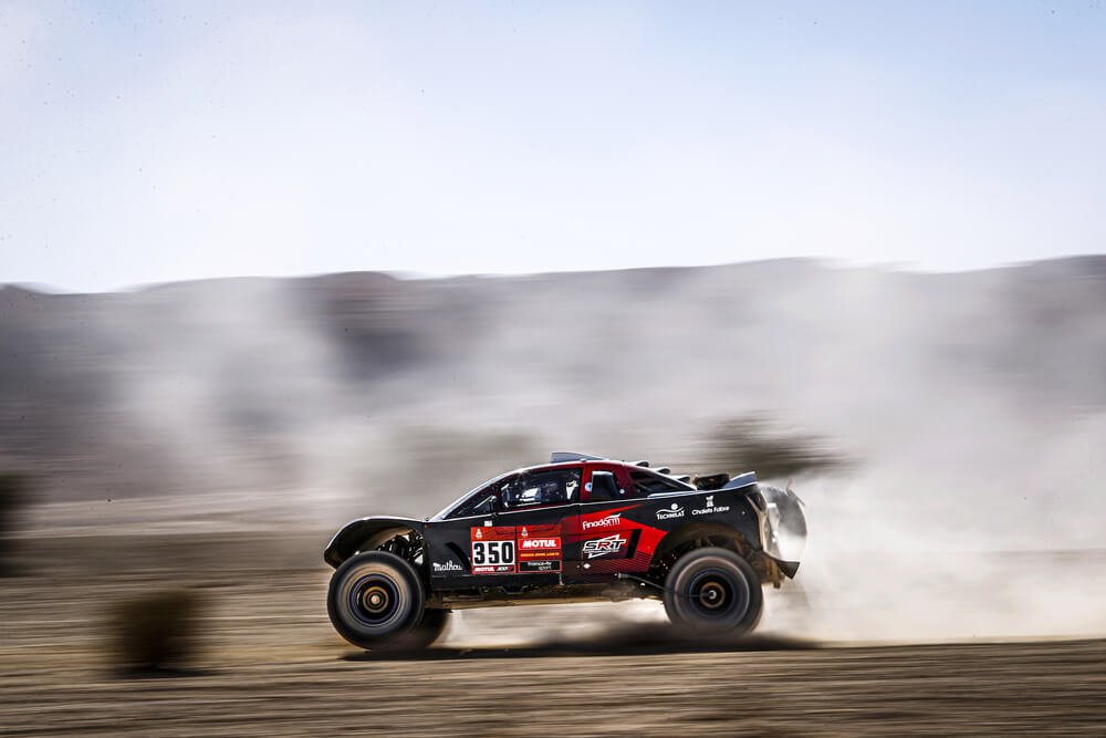 350 Bergounhe Jean-Remy (fra), Brucy Jean (fra), Buggy, SRT Racing, Auto, Car, action during Stage 9 of the Dakar 2020 between Wadi Al-Dawasir and Haradh, 891 km - SS 415 km, in Saudi Arabia, on January 14, 2020 - Photo Frederic Le Floc'h / DPPI