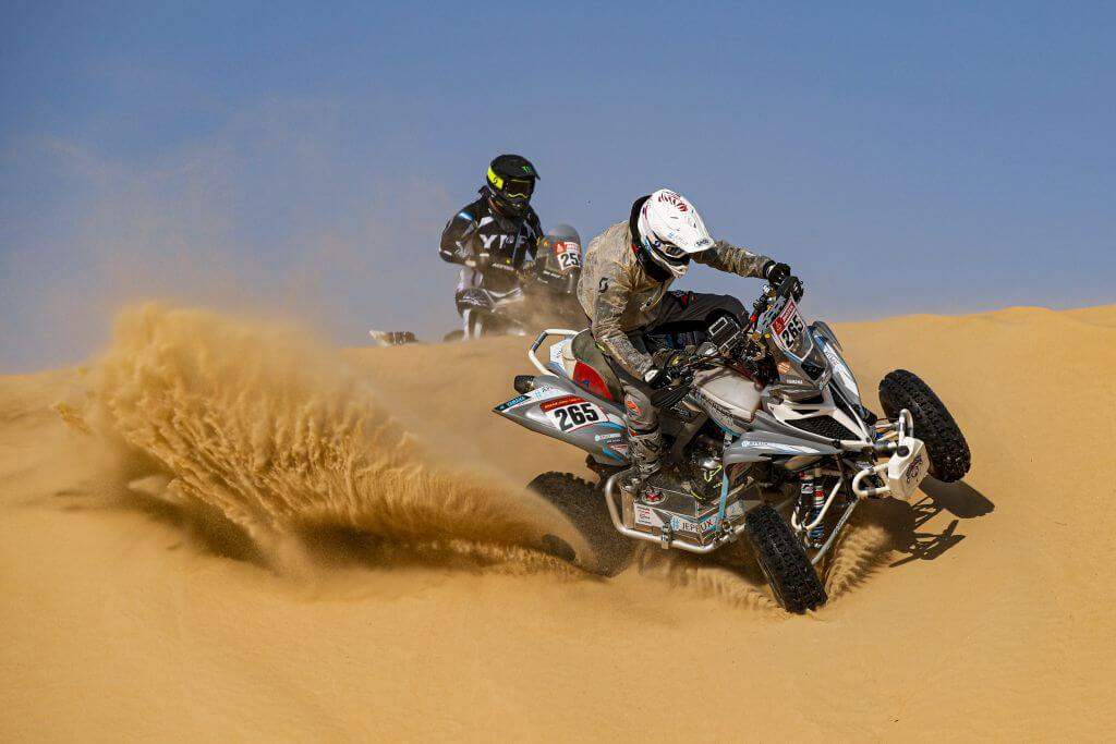 265 Vitse Simon (fra), Yamaha, Je peux 2020-BBR Mercier Racing, Quad, action during Stage 10 of the Dakar 2020 between Haradh and Shubaytah, 608 km - SS 534 km, in Saudi Arabia, on January 15, 2020 - Photo Florent Gooden / DPPI