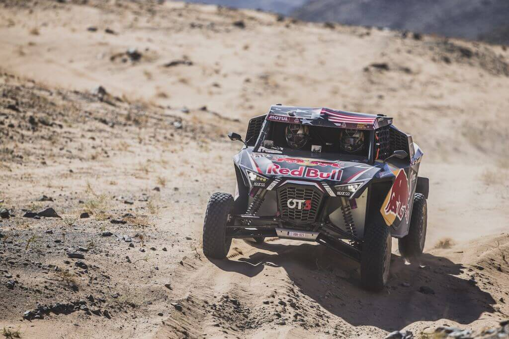 Mitchell Guthrie (USA) and Ola Floene (NOR) of SSV Red-Bull Off-Road Team USA races during stage 1 of Rally Dakar 2020 from Djeddah to Al Wajh, Saudi Arabia on January 05, 2020.
