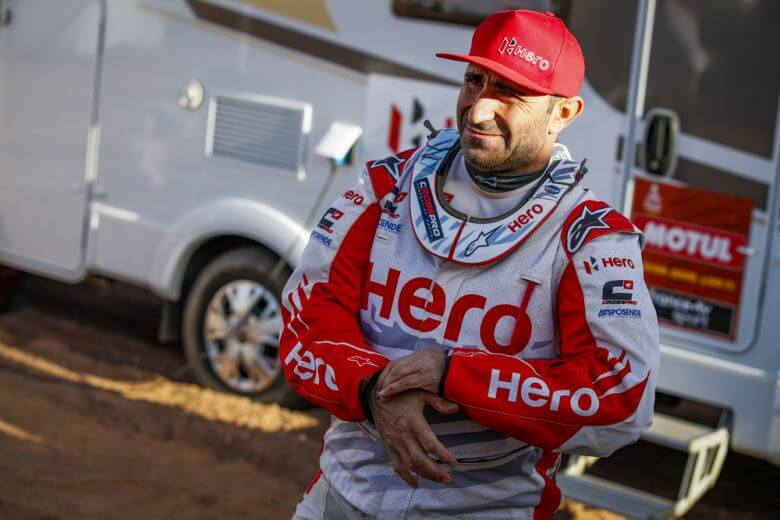 Goncalvez Paulo (prt), Hero, Hero Motosports Team Rally, Moto, Bike, Motul, portrait during Stage 4 of the Dakar 2020 between Neom and Al Ula, 676 km - SS 453 km, in Saudi Arabia, on January 8, 2020 - Photo Florent Gooden / DPPI