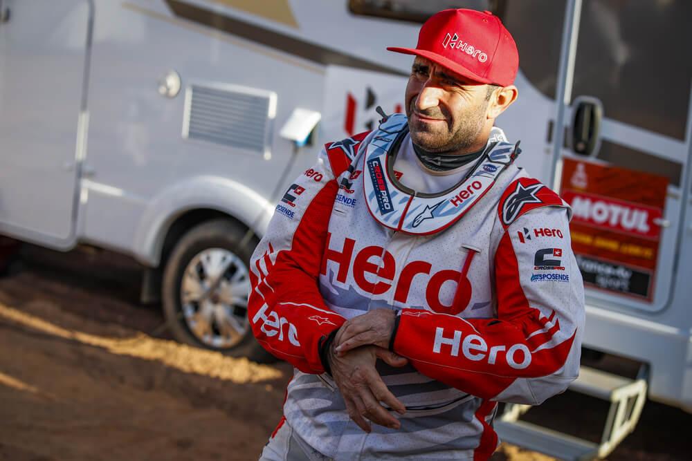 Goncalvez Paulo (prt), Hero, Hero Motosports Team Rally, Moto, Bike, Motul, portrait during Stage 4 of the Dakar 2020 between Neom and Al Ula, 676 km - SS 453 km, in Saudi Arabia, on January 8, 2020 - Photo Florent Gooden / DPPI
