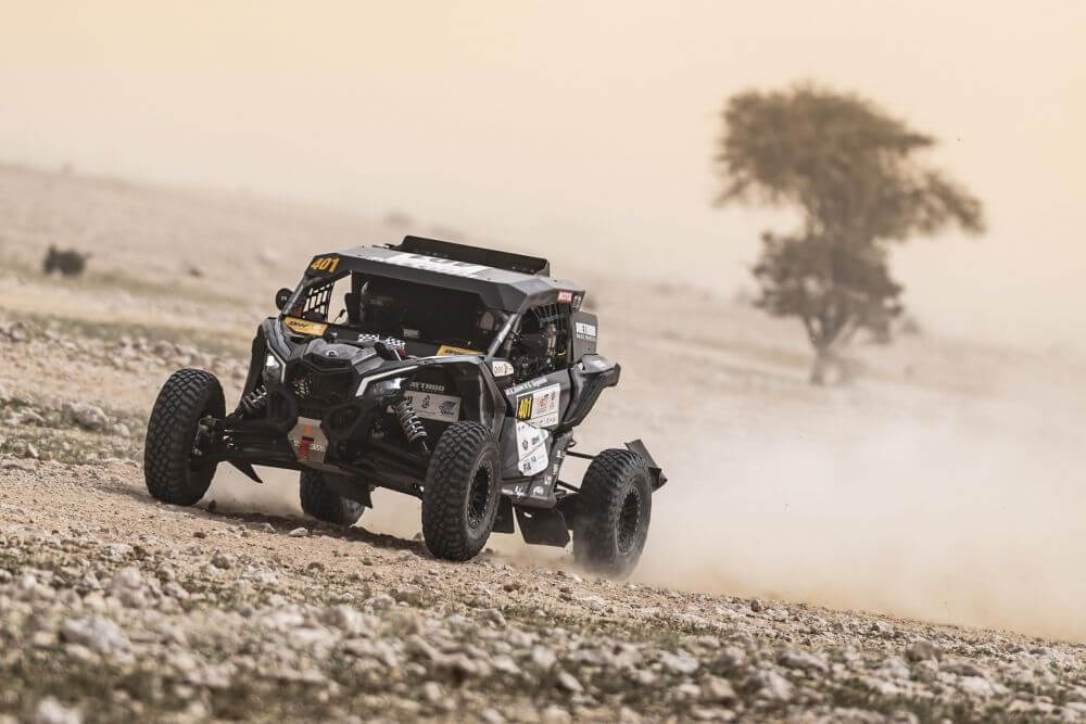 2020 Qatar Cross Country Rally Austin Jones Win Two Stages