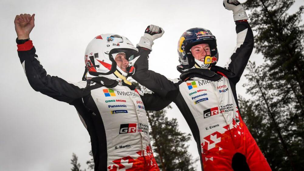 2020 Rally Sweden Elfyn Evans Scott Martin WRC Podium Winner