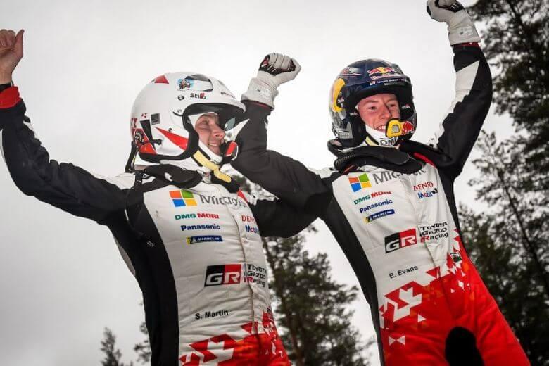 2020 Rally Sweden Elfyn Evans Scott Martin WRC Podium Winner