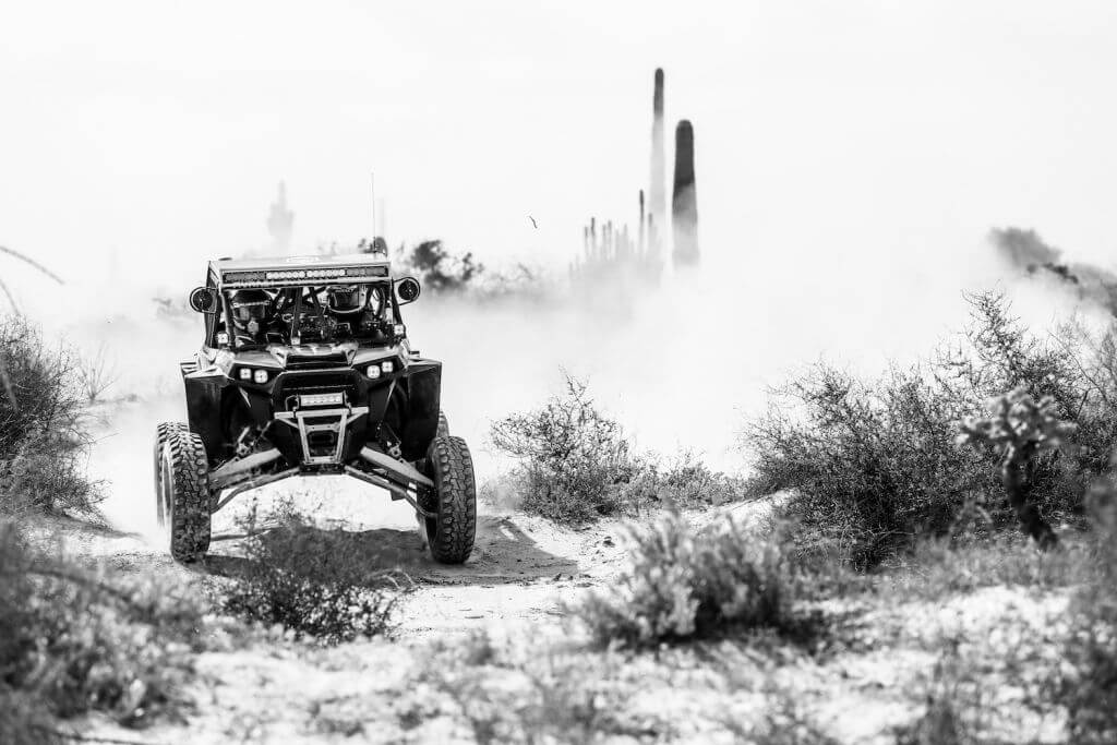 Sonora Rally Raid Side by Side driving across the desert