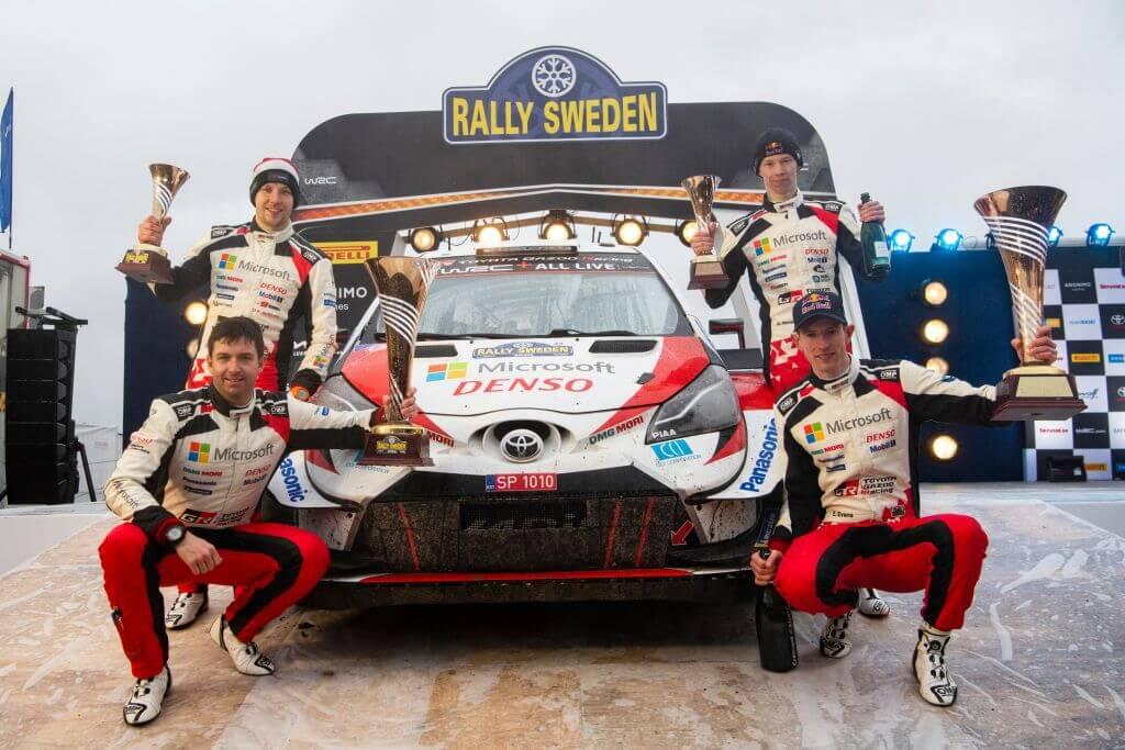 WRC Rally Sweden Elfyn Evans Scott Martin Kalle Rovanpera Jonne Halttunen