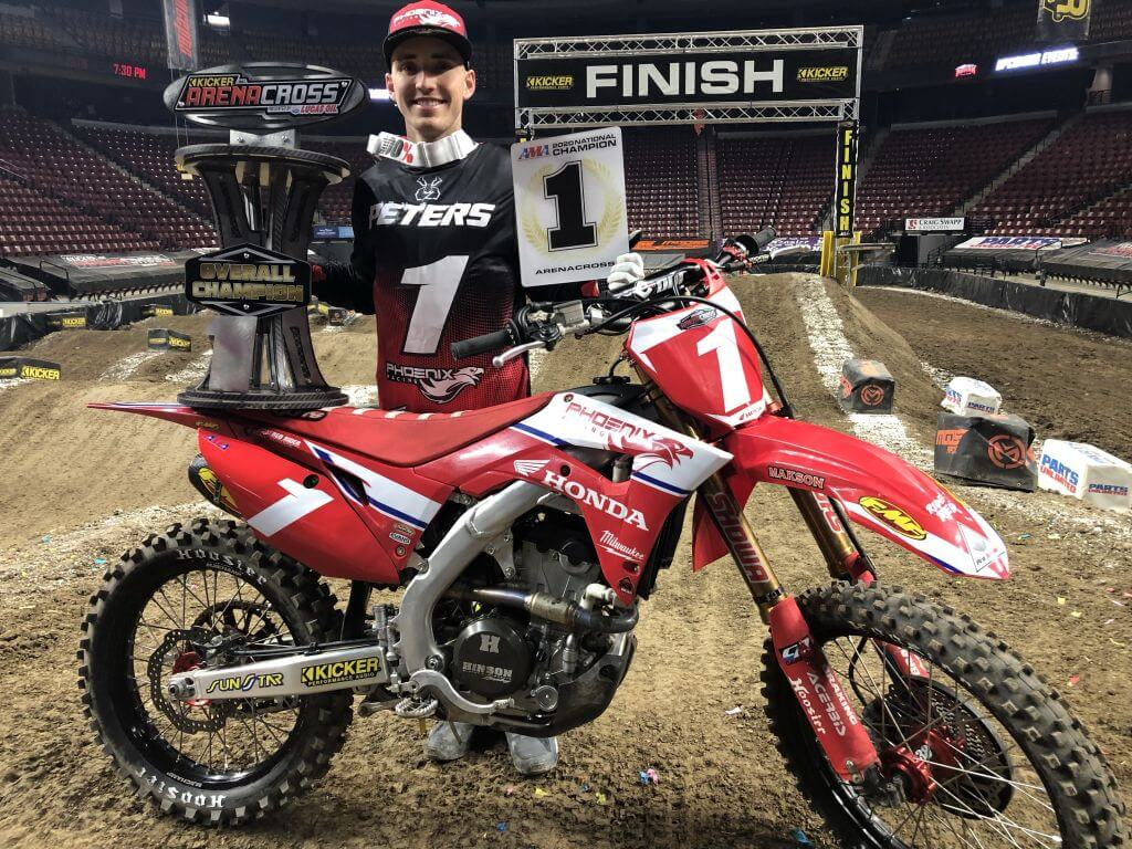 Phoenix Racing Honda rider Kyle Peters clinched the 2020 AMA Arenacross title