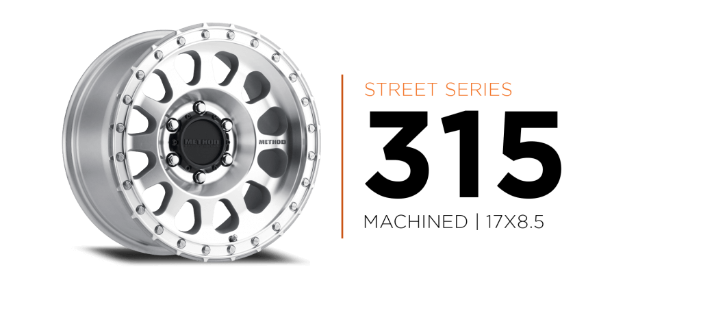 Method Race wheels 315 Street Series Machined