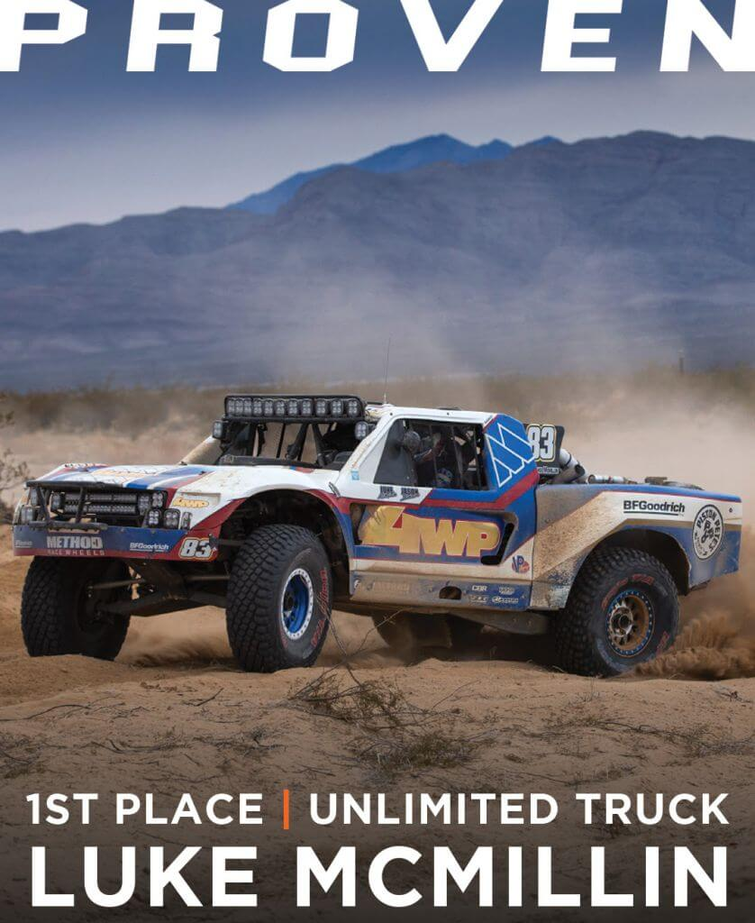 Method Race wheels Fiorst Place Unlimioted Truck Luke McMillin