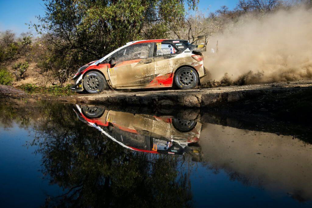 Sebastien Ogier Racing in Day WRC Rally Mexico