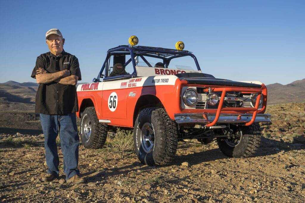 bronco Rod Hall off road racer portrait mad media