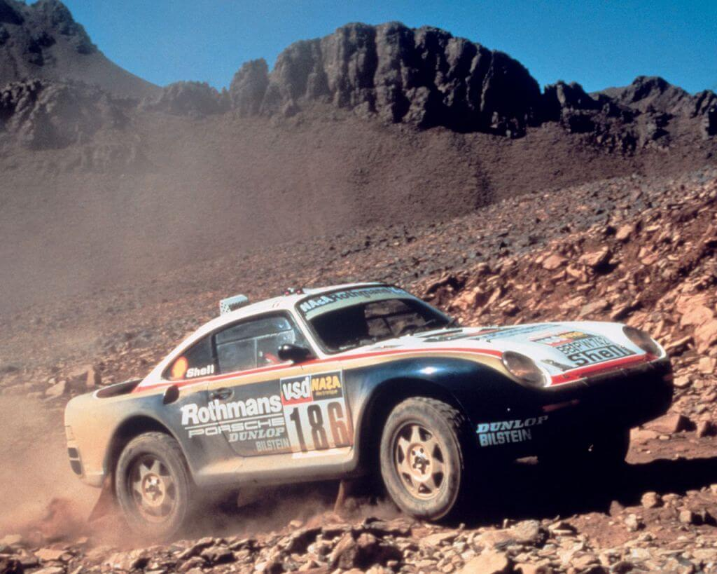 Porsche rally off road racer