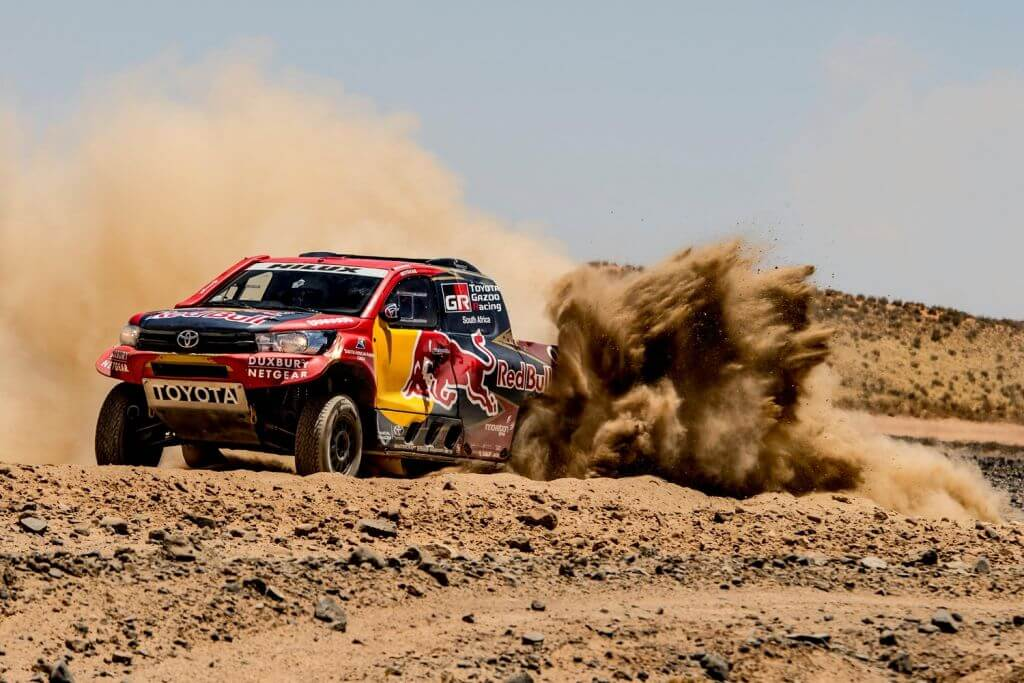 nasser al attiyah test the toyota off road