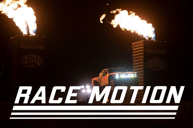 race motion off road nighttime