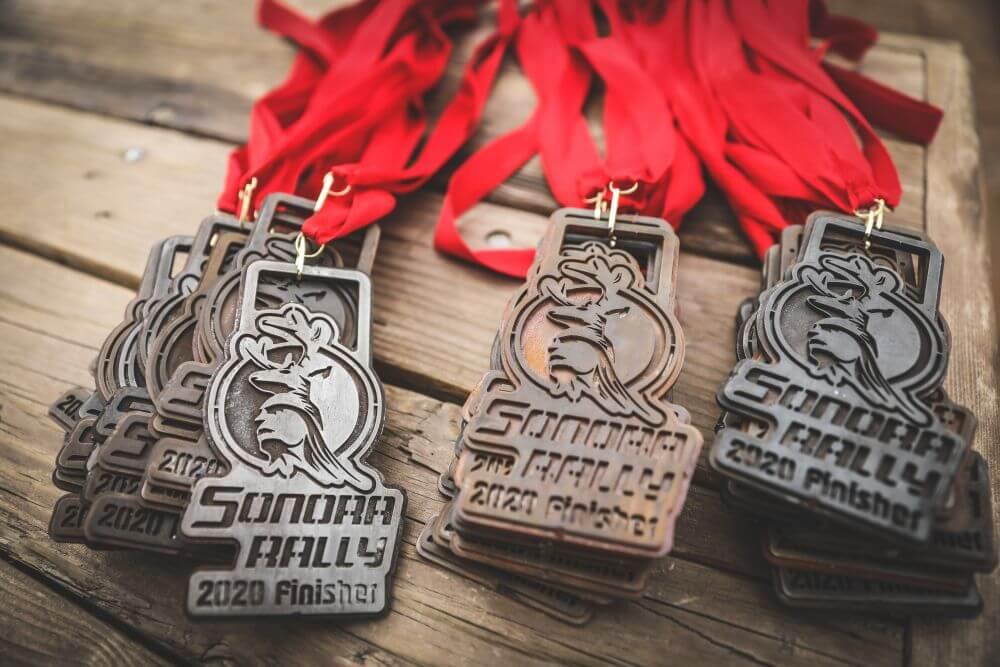 sorona rally off road racer medal