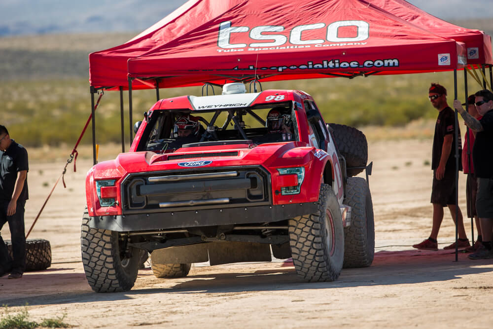 tsco ford racing testing off road
