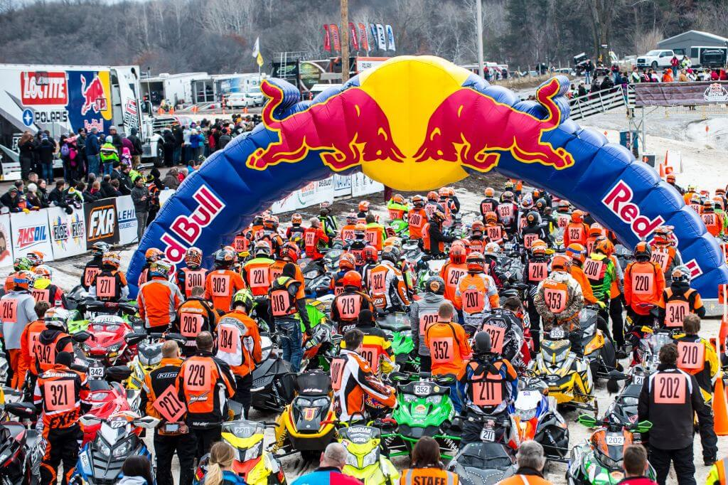 erx off road park off road racer snow mobile red bull