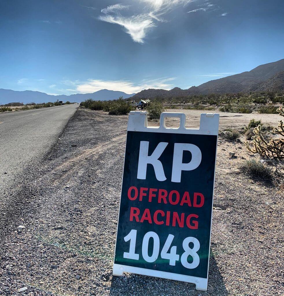 kp off road racing sign