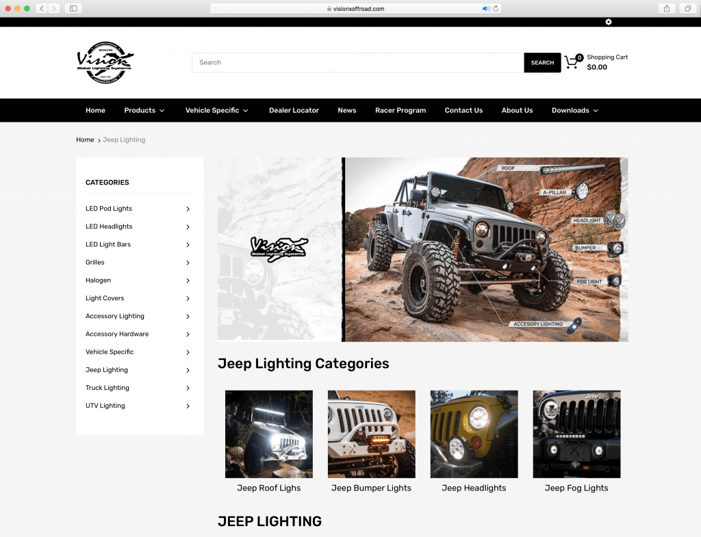 visionx off road lighting off road racer jeep