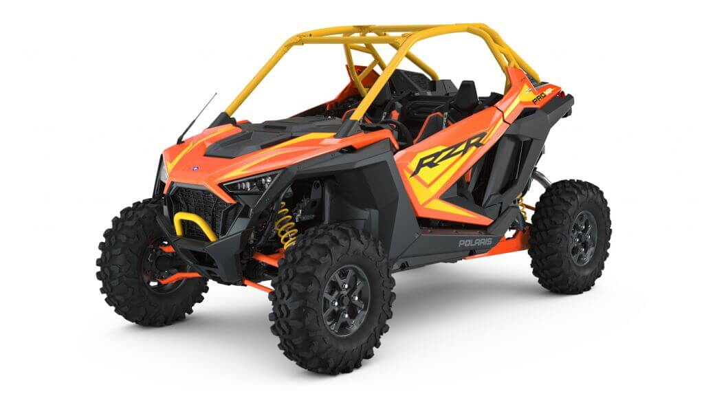 Polaris RZR PRO XP Orange Madness Seater from the front side
