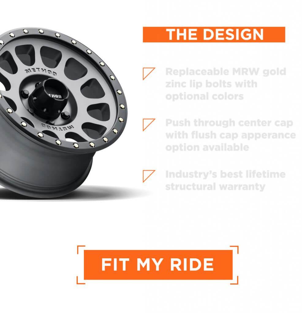 method race wheels titanium off road racer