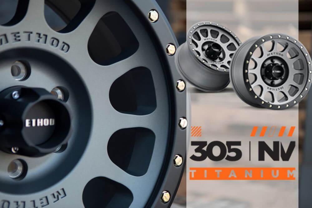 method wheels titanium off road racer