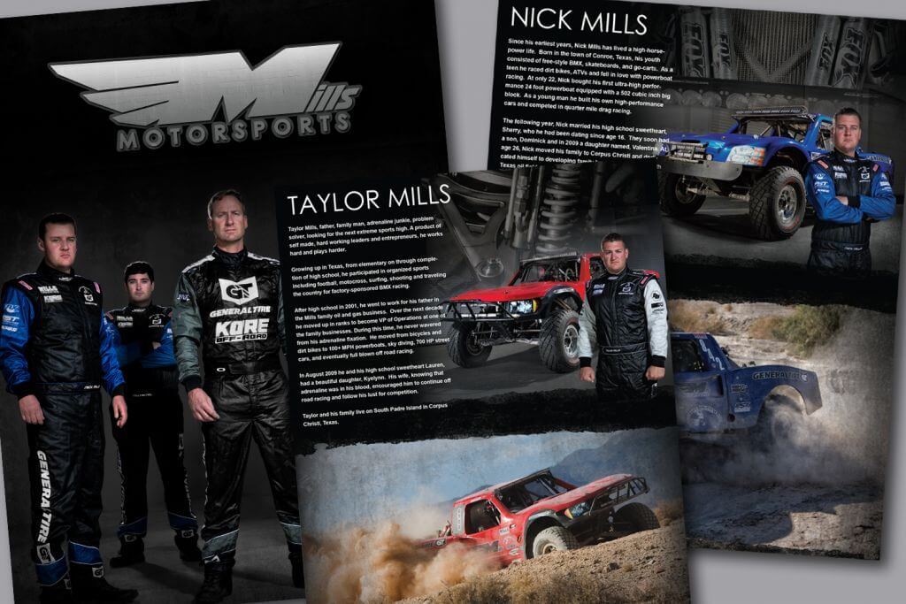 mill motorsports press off road racer