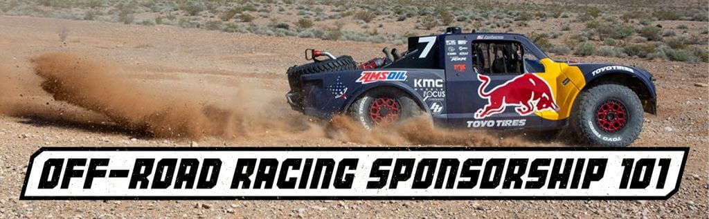 off road racer sponsorship banner