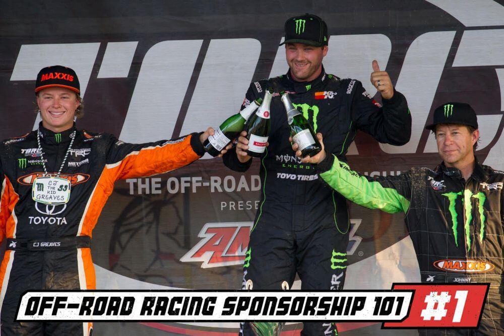 off road racer sponsorship dustin